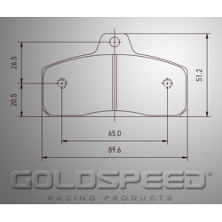 Set remblokken Birel en Wildkart van Goldspeed Racing -405