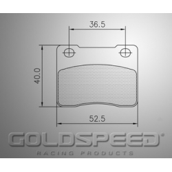 Set remblokken Wildkart van Goldspeed Racing -413