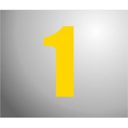 Plakcijfers groot Geel 16cm
