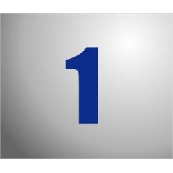 Plakcijfers klein Blauw 12cm