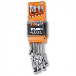 Beta 9-delig set ratelringsteeksleutels, 8-10-11-12-13-16-17-18-19 mm