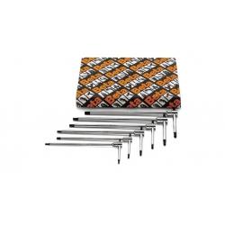 La Beta 6-piece set di T-chiavi a profilo esagonale su tre lati