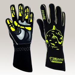 Speed Melbourne G-2 Handschoenen Zwart-Geel Neon
