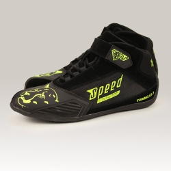 Speed Torino KS-3 Kart Shoes Black-Yellow Neon