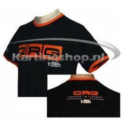 Гоп футболки черный-оранжевый